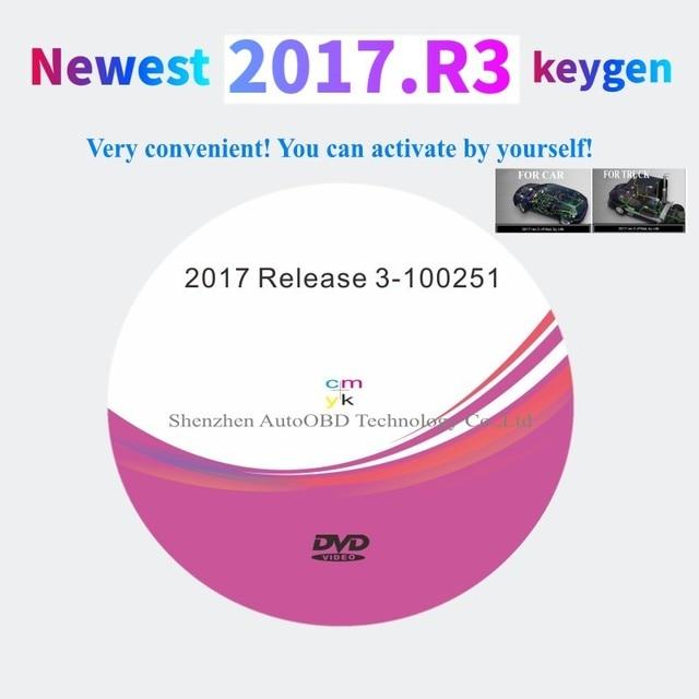Neueste 2017.R3 mit keygen auf DVD software Unterstützung ISS Funktionen für delphis vd ds150e cdp vdIJk Autocoms pro für auto lkw