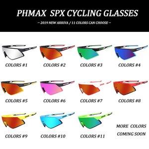 Image 2 - PHMAX Outdoor Sports Road Bicycle Glasses Ultralight Polarized Cycling Sun Glasses Men&Women MTB Bike Sunglasses Goggles Eyewear