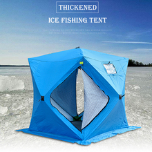חורף דיג אוהל חיצוני 3 4 אדם Windproof מבודד חורף קרח דיג אוהלי אוהלים חמים עבור קמפינג קרח מקלט