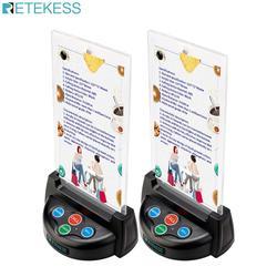 Retekess td006 quatro botão sem fio chamada sino pager botão transmissor para sistema de chamada sem fio para restaurante café