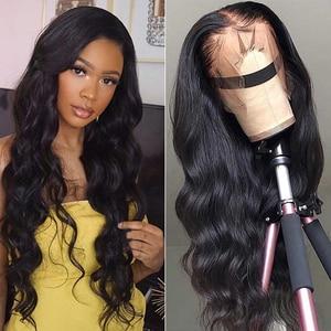 Onda do corpo brasileiro orelha a orelha fechamento frontal do laço do cabelo humano fechamento tamanho 13x4 Polegada cor natural 100% remy cabelo