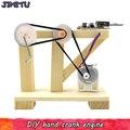 Hand Generator Modell Kits Spielzeug DIY Holz Manuelle Dynamo Wissenschaft Experiment Montage Modelle Spielzeug für Kinder Kreative Pädagogisches