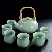Напрямую от производителя 7 головок петли-чайник с рукояткой керамический чайный сервиз Специальное предложение посуда большой горшок большая чашка чайный набор кунг-фу г