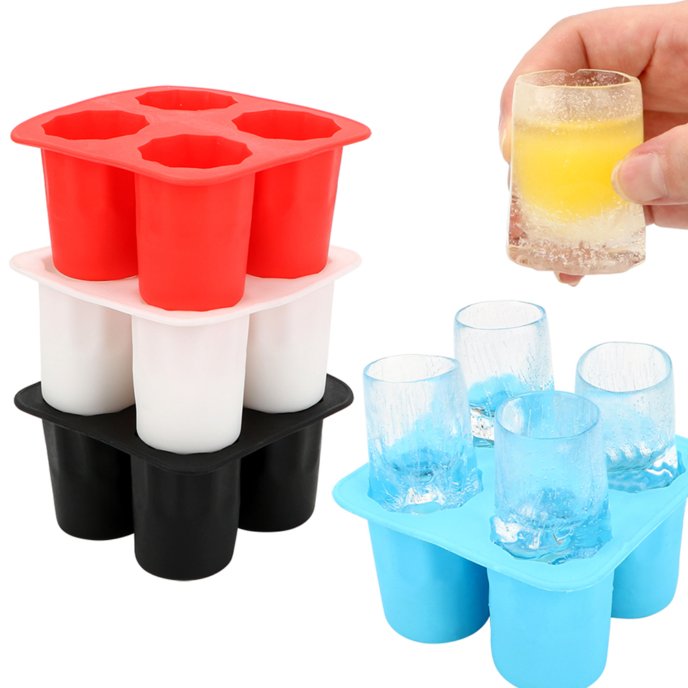 Ice Cube Tray Mold Makes Shot Glasses Ice Mould Novelty Gifts Ice Tray Summer Drinking Tool Ice Shot Glass Whiskey Cocktail Cold