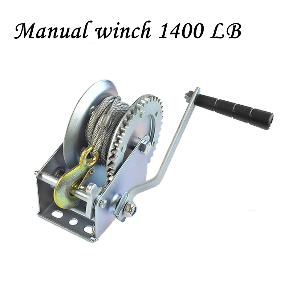 Manual Winch 1400 LB Winch  Of Wire Rope