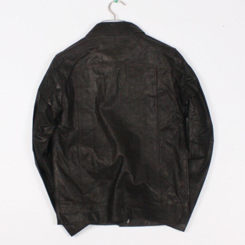 Relaja la capa de cuero del cerdo de los hombres cortocircuitos de la moda del cuero del abrigo 2020 nuevo abrigo de la cremallera de los hombres