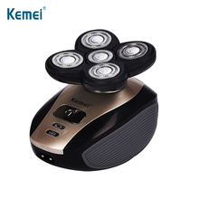 KEMEI 5 in 1 Rechargeable Electric Shaver Men Nose Hair Trimmer Washable Five Floating Heads Razors Hair Clipper Hair Trimmer недорого