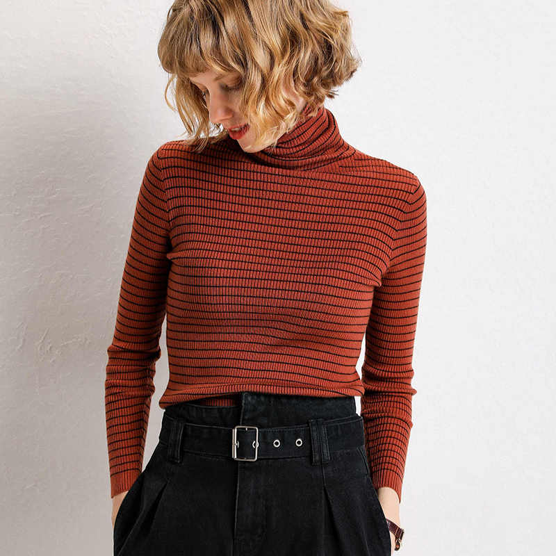 winter fashion women solid turtleneck sweater female long sleeve chic elegant ladies jumpers sweater pull femme