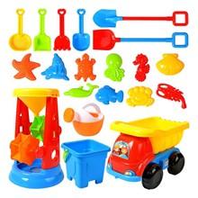 Beach-Toys Sandbox-Set-Kit Cart Play Sand-Water Kids for Summer 20piece