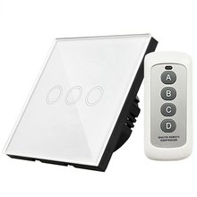 Y603B EU Standard Touch Switch LED Wall Light AC 110-240V 3 Way Wall-mount With 433MHz Remote Controller