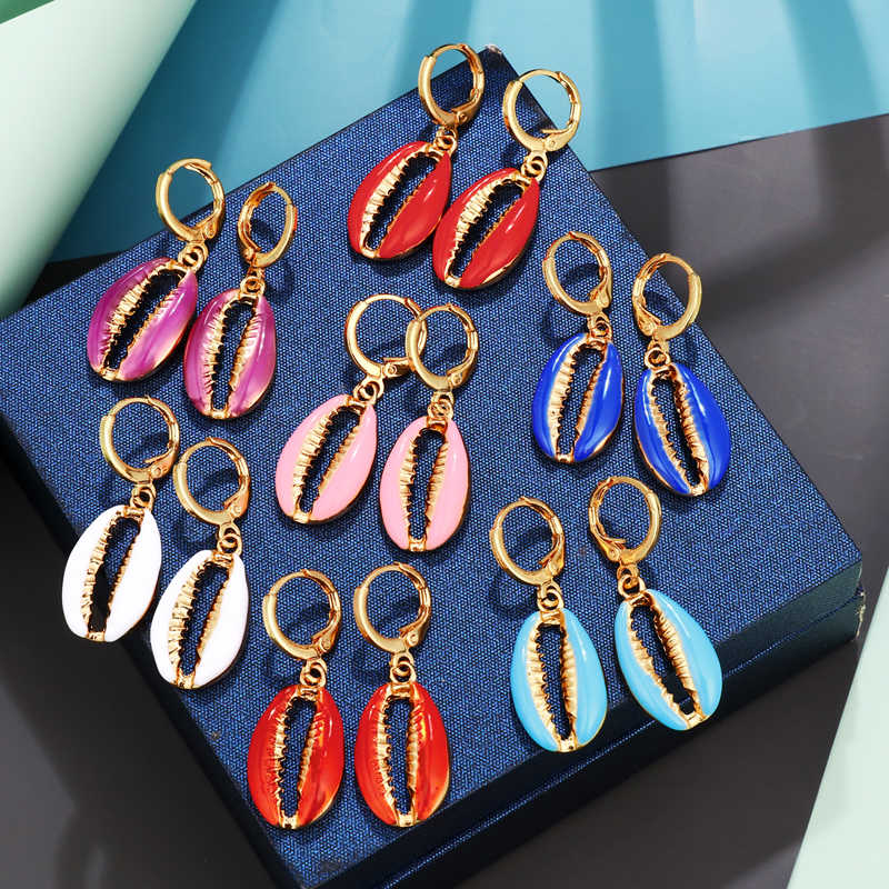 Elegant Shell Alloy Drop Earrings ZA Cute Chic Statement Dangle Earrings for Women Wedding Party Gifts Irregular Jewelry