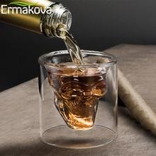 ERMAKOVA 25 мл/75 мл/150 мл стекло череп рюмка вино пиво бокал для виски вино водка бар клуб пиво вечерние отель свадебные бокалы