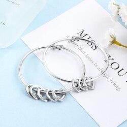 Özelleştirilmiş kazınmış isim bilezik kadınlar için kız paslanmaz çelik kalp bilezik ve bilezikler zarif kadın mücevher kişiselleştirin hediye