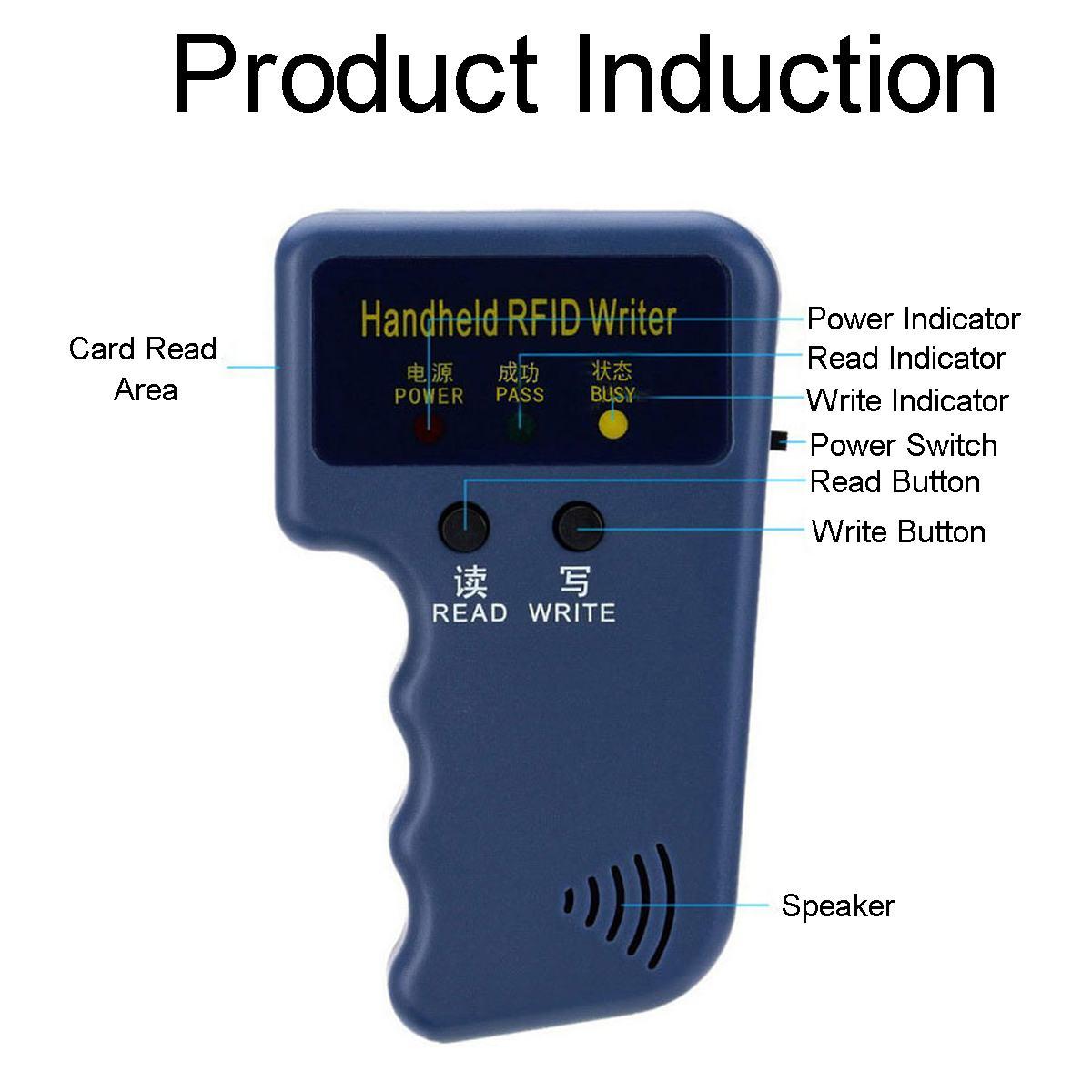 Портативный 125 кГц RFID Копир Писатель портативный программист ридер Поддержка EM4305 T5577 5200 копия брелок и идентификационная бирка