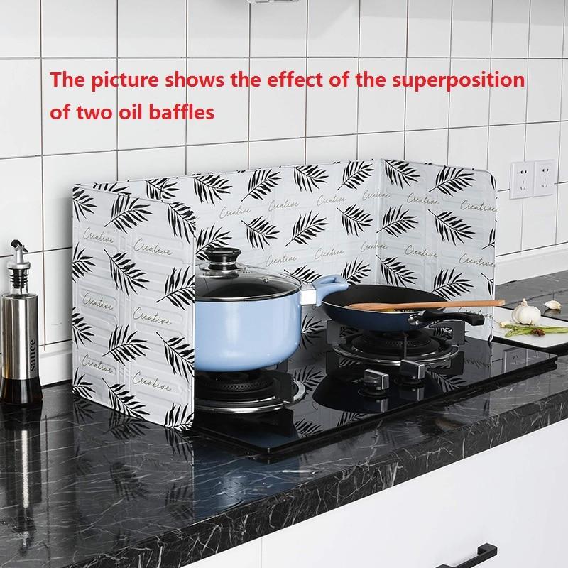 Кухонные гаджеты, алюминиевый защитный экран, складная кухонная плита, дефлектор для газовой плиты, сковорода, защита от разбрызгивания мас...