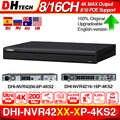 Dahua 4K Nvr NVR4208-8P-4KS2 NVR4216-16P-4KS2 Met Poe Poort Ondersteuning 4K Poe H.265 2 Sata Voor Beroep Ip Camera security System