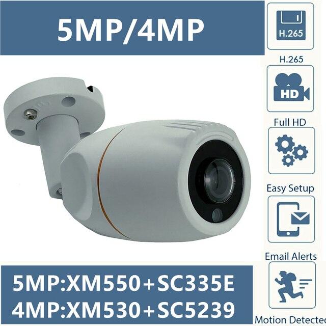 Panorama ojo de pez 5MP 4MP IP Cámara metálica de bala para exteriores IP66 impermeable XM550AI + SC335E 2592*1944 1,7mm IRC ONVIF CMS XMEYE P2P