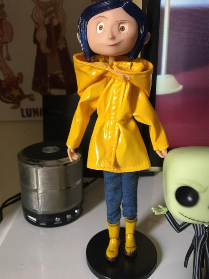 Neca Coraline With Yellow Raincoat Action Figure Toy Doll Gift For Christmas Children Birthday Gift Decoration Action Toy Figures Aliexpress