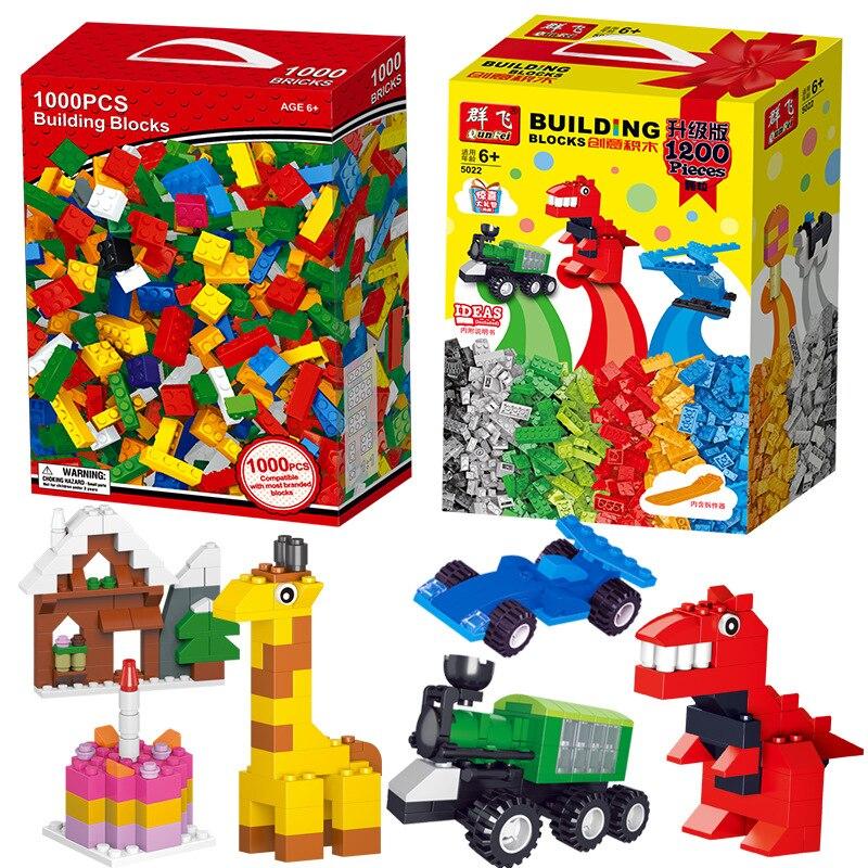 1000 1200 шт./компл. детская игра Сделай Сам строительные блоки креативные кирпичи конструкции оптом модель блок совместим со всеми самых лучших брендов, Legoe детские игрушки