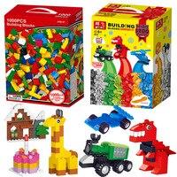 1000 1200pcs/set Kids DIY Building Blocks Creative Bricks Construction Bulk Model Block Compatible All Brands Legoe Children Toy