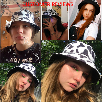Cow Pattern Bucket Hat 2