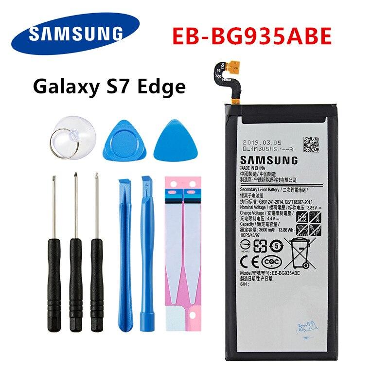 SAMSUNG Orginal EB-BG935ABE 3600mAh Battery For Samsung Galaxy S7 Edge SM-G935 G9350 G935F G935FD G935W8 G9350 +Tools