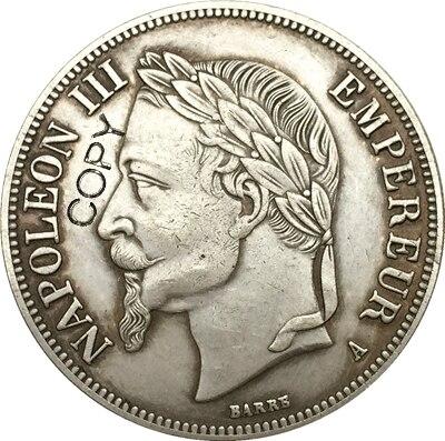 France  5 Francs - Napoleon III 1867 coins copy