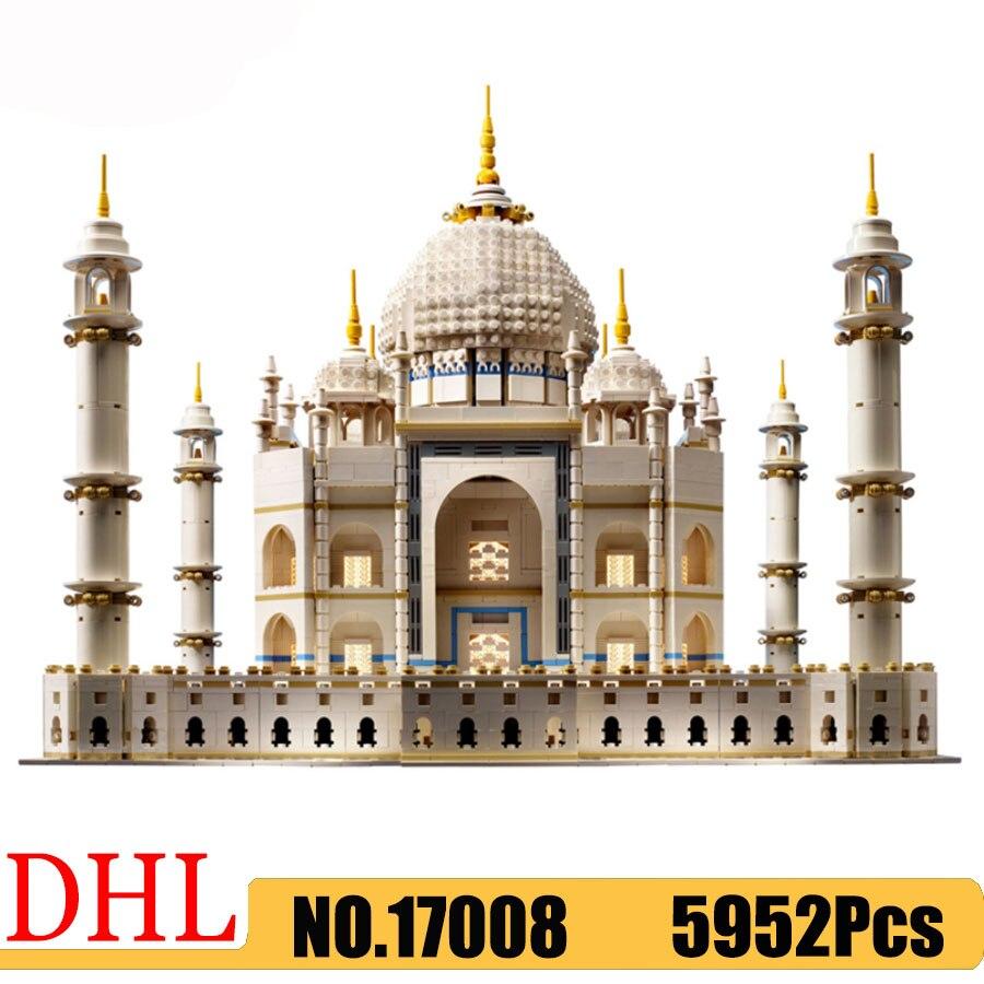 Berühmte Architektur 17008 Die Taj Mahal Set Bausteine kompatibel 10256 5952Pcs Bricks Spielzeug Kinder Weihnachten Geschenk