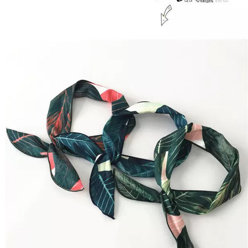 2020 New Spring Print Thin Headband For Women Hair Ornament Holder Hairbands Cross Turban Bandanas Fashion Hair Accessories