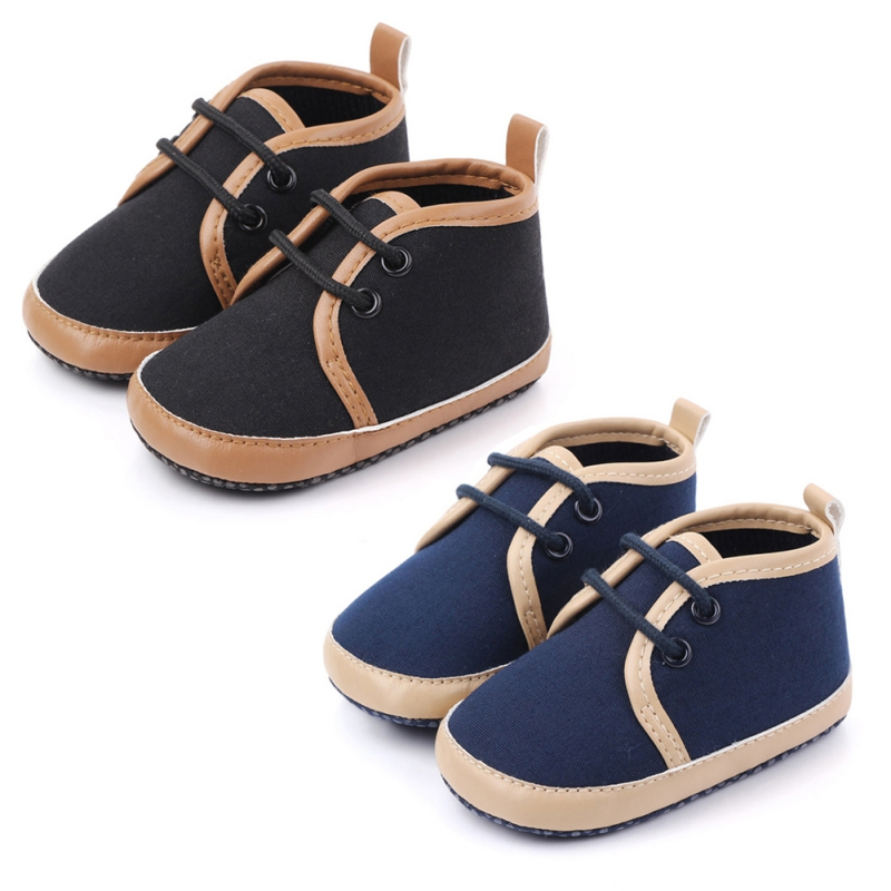 2019 Baby Shoes Classic Canvas Baby Boy Shoes Spring Cotton Straps Stitching Newborn Boy Girl Shoes First Walker Prewalker
