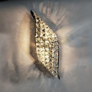 Image 5 - Wand Leuchte Moderne LED Kristall Wand Lampe Mit 2 Lichter Für Home Beleuchtung Wand Leuchte Arandela Lamparas De Pared