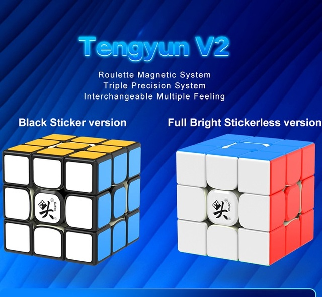Original Dayan tengyun V2 M 3x3x3 V1 Magnetic Cube Professional Dayan V8 3x3 Magic Cubing Speed  Puzzle Educational Toys for Kid 5