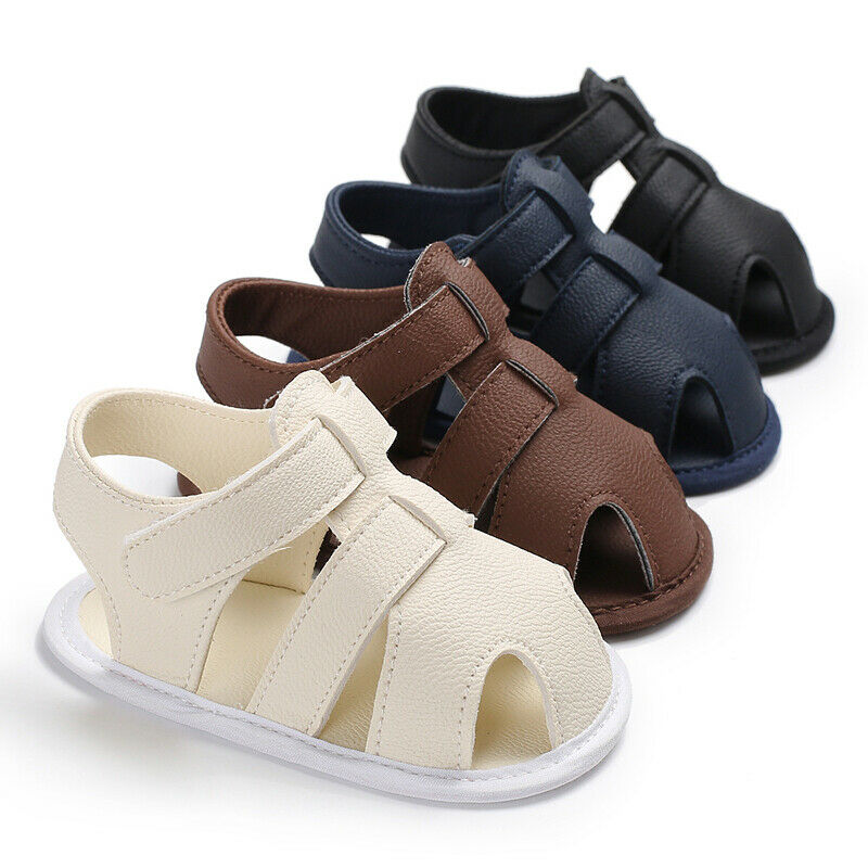Baby Summer Sandals For 0-18 Months Boy Girl Slippers Toddler Kids Nursery School First Walkers PU Leather Shoes