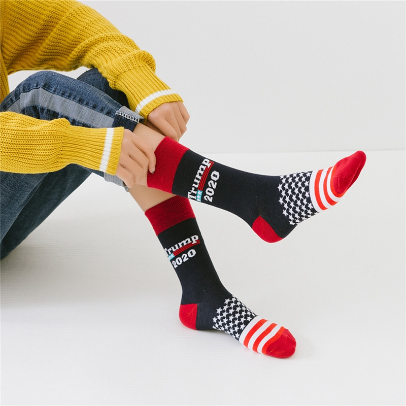 Men President Donald Trump Socks 2020 Make America Great Again Casual Stretchy Fashion Fitness Cycling Women Men\'s Sportswear
