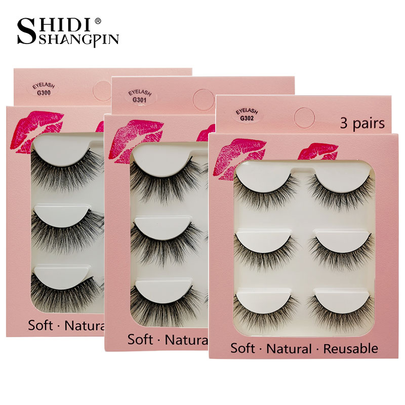 3 Pairs 3d Mink Lashes Eyelash Extension Volume Lash Beauty Makeup False Eyelashes Natural Long Mink Eyelashes Cilios Maquiagem