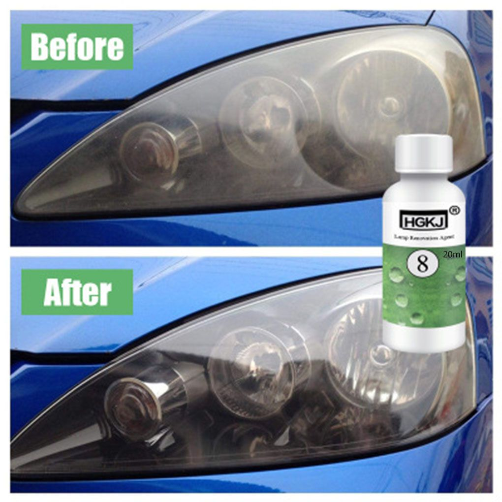 HGKJ-8 Car Headlight Headlamp Cleaner Renewer Renovation Scratch Repair Lens Side Mirror Polish 20ml