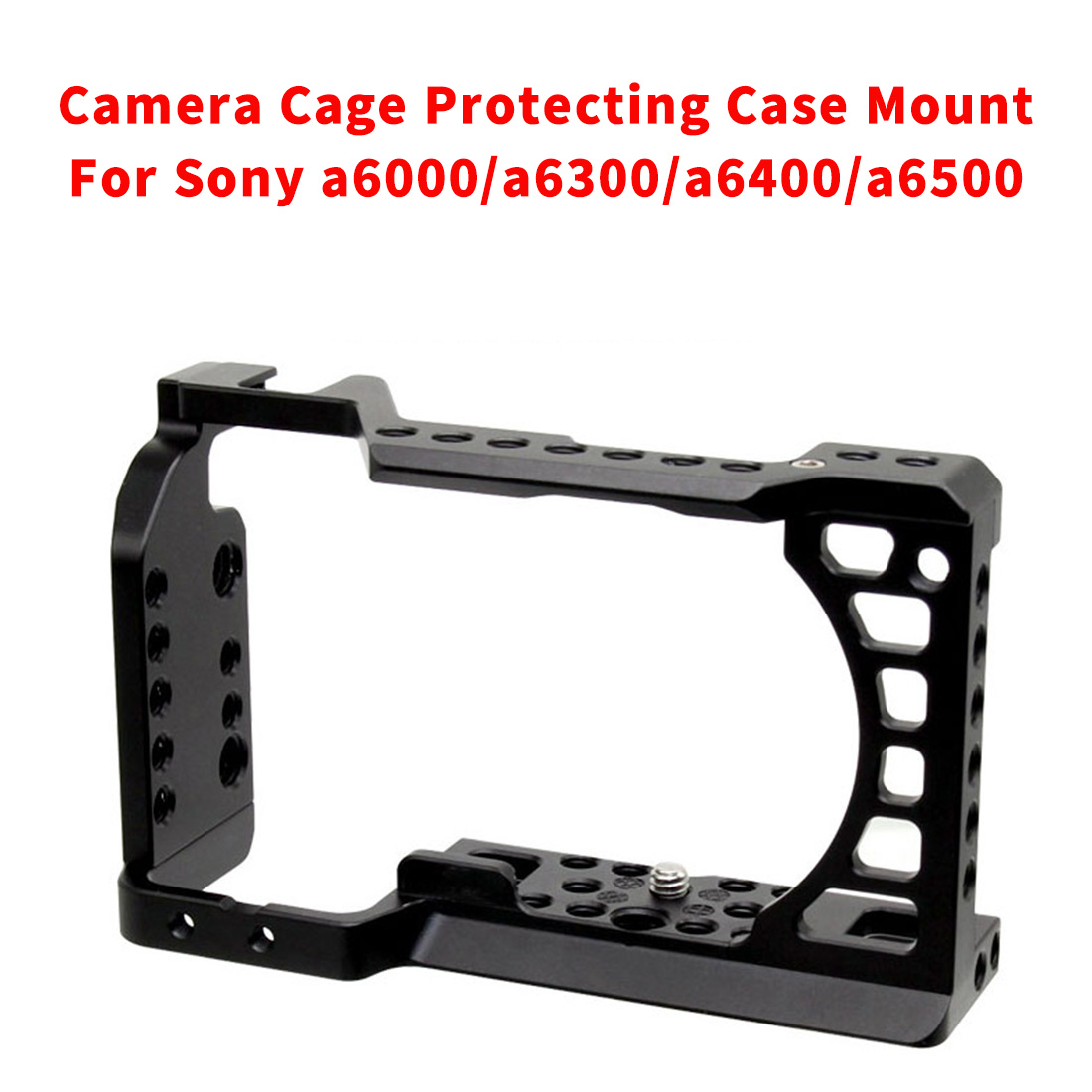 CNC Aluminum Camera Cage For SONY A6500/a6000/a6300/a6400/a6500 DLSR Protecting Case Mount Expansion Cover Quick-Rease Plate Kit