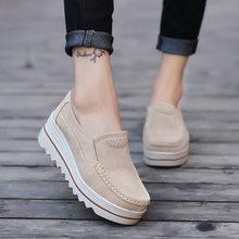 Zapatos informales de piel sintética para mujer, mocasines femeninos, nuevos diseños, slido, tnis, respirable, para apartamentos