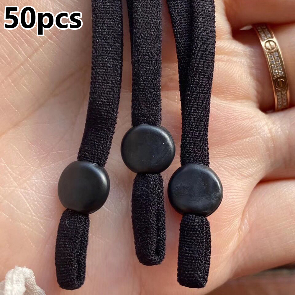 50Pcs/100Pcs Elastic Band Muti Color  Face Cover  Cotton Fiber Adjustable Ear Strap  Wearing More Comfortable