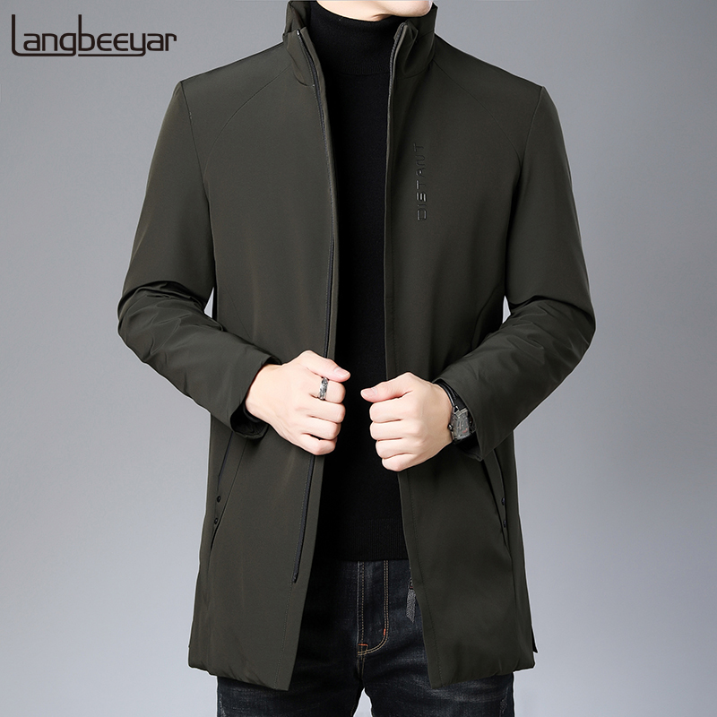 Top Grade 2019 New Winter Fashions Brand Down Jackets Men Duck Down Streetwear Feather Coats Long Warm Men Clothing