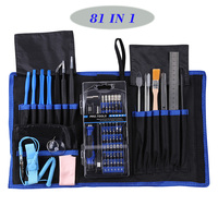 81 in 1 Repair Tools Set 56 Bits Screwdriver Tweezers Set for Mobile Phone Laptop Computer Electronics Maintenance Hand Tool Kit