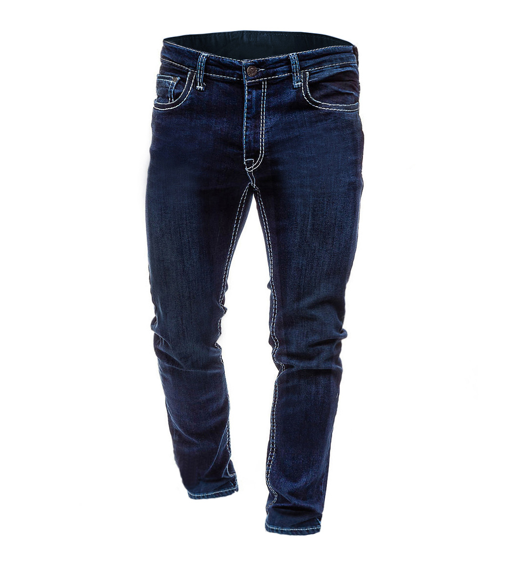 Men's Europe And America Solid Color Simple Jeans Men Big Size Cowboy Trousers 3416
