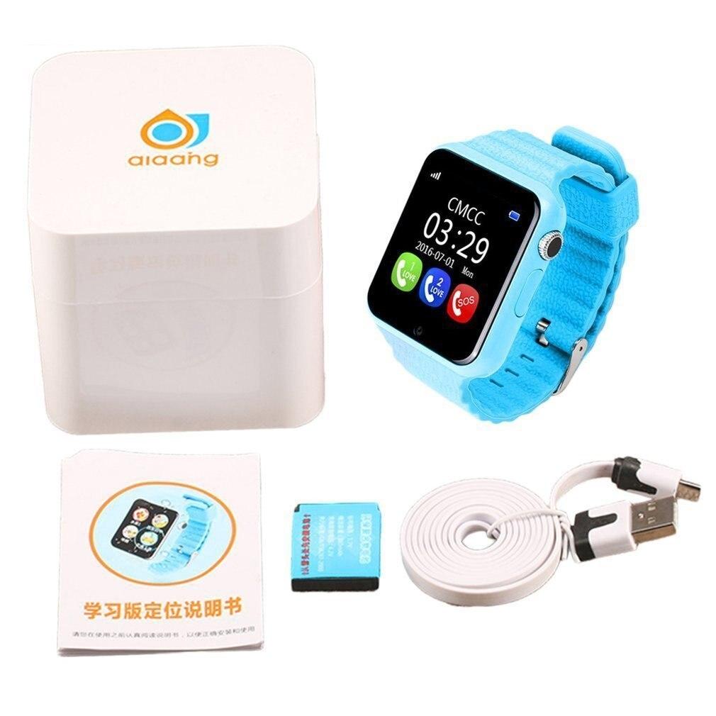 V7K Crianças Relógio Inteligente Monitor de Segurança Anti Perdido Segurança Localização GPS Tracker Posicionamento Tela À Prova D Água