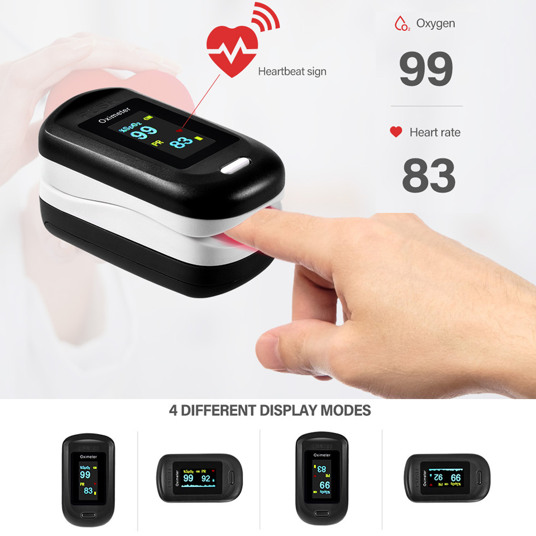 Medical Portable Household Finger Pulse Oximeter Pulsioximetro Finger Pulse Oximeter With OLED Display Saturometro Monitor