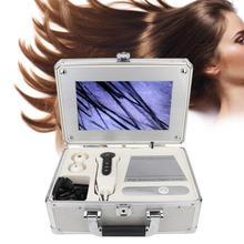 헤어 오일 10.1 인치 박스 타입 두피 모낭 얼굴 피부 검출기 헤어 분석기 기계 디지털 피부 건강 감지