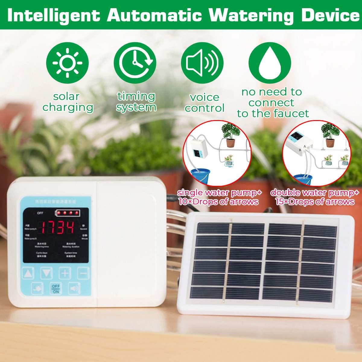 Solar Automatic Watering Device Garten Topfpflanze Tropfbewässerung Time