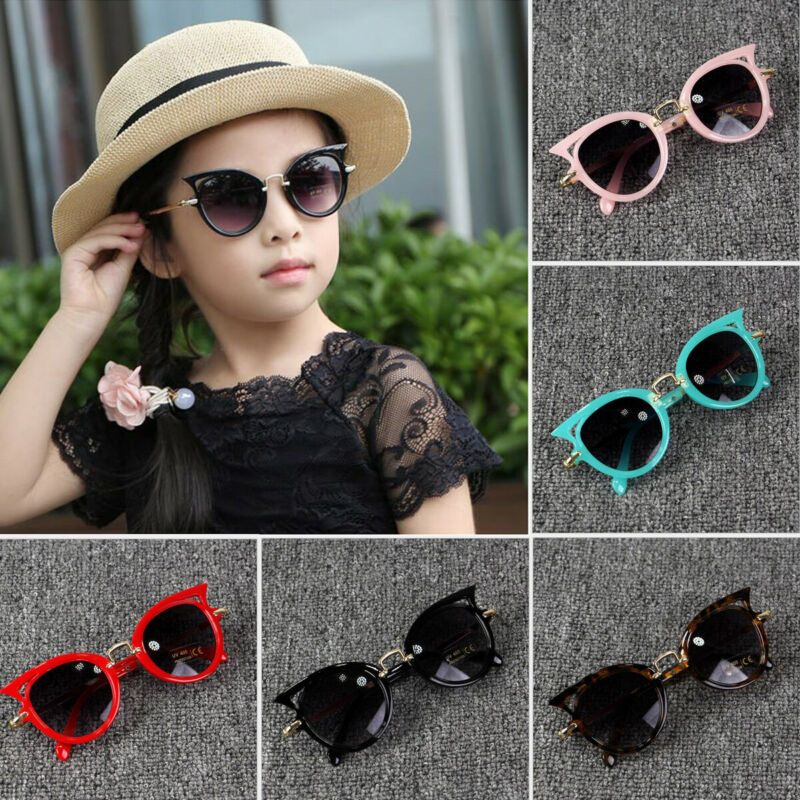 2020 Baby Summer Accessories Kid Goggles Boy Girl Glasses Protection Outdoor Holiday Sunglasses Cat Shape Sunglasses Gifts UV400