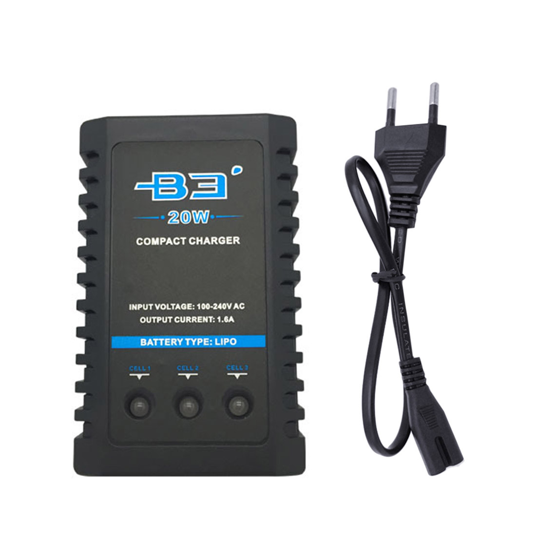 T238 Flash Bomb Flash Bang Battery Charger B3 2s-3s 20w Fast Charger Lithium Battery Charger With USB Cable For 11.1v 7.4v Battery