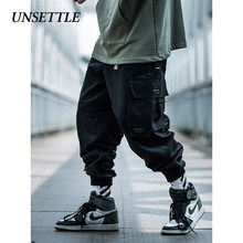 UNSETTLE 2019 Japanese Side Pocket Cargo Harem Pants Mens Casual Jogger Streetwear Hip Hop Streetwear Trousers Male(China)