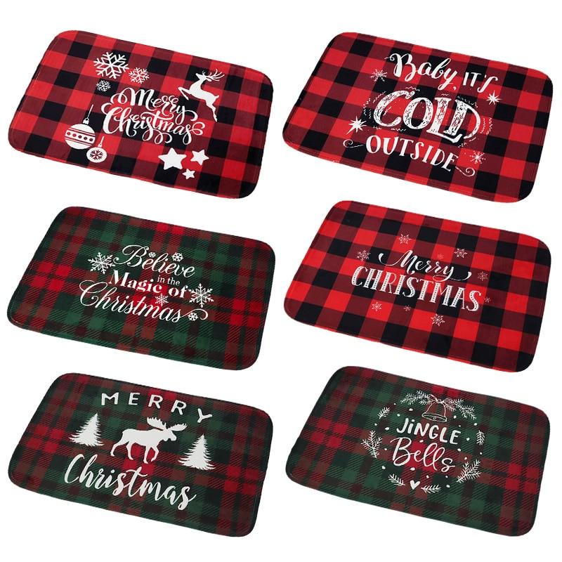 Рождественский коврик, фланелевый уличный ковер, рождественские украшения для дома, Рождественское украшение, Санта-Клаус, подарки на новы...